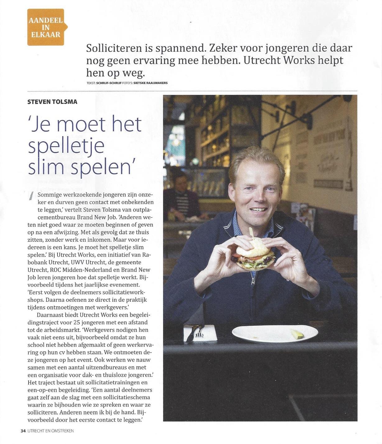Scan artikel Rabobank Utrecht Works